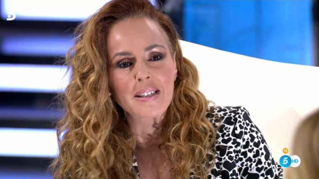 Rocío Carrasco durante la emisión del cierre en directo de su docuserie.