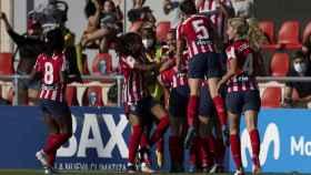 Las jugadoras del Atlético de Madrid celebrando un gol