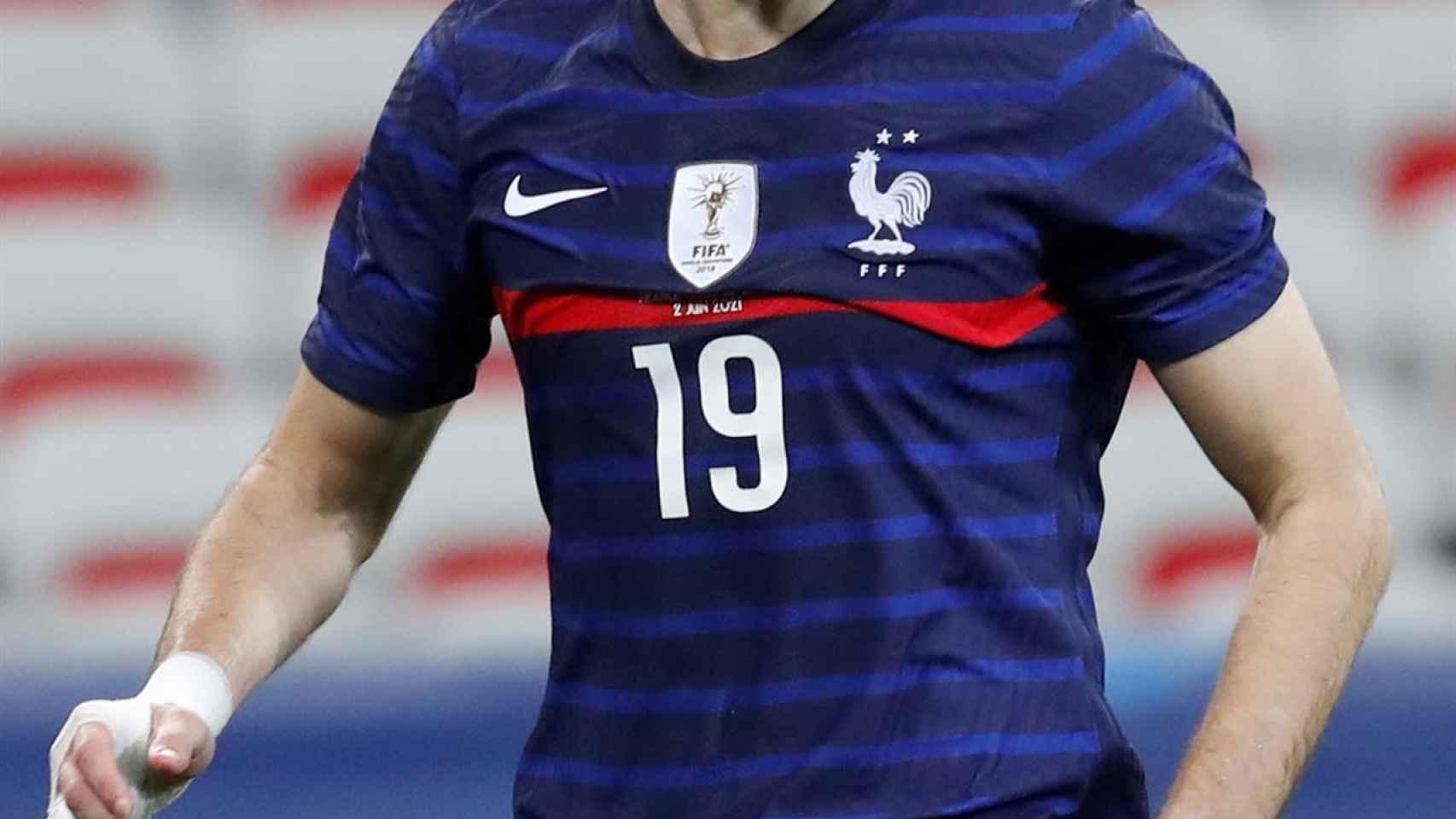 Karim Benzema, en su regreso con la selección de Francia