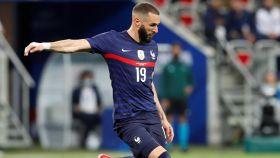 Karim Benzema, en un partido de la selección de Francia