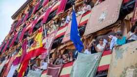 Imagen de archivo de los balcones de la Delegación del Gobierno de Toledo. Foto: Óscar Huertas
