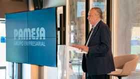 Fernando Roig, durante la presentación de los resultados de Pamesa correspondientes al ejercicio 2020. EE