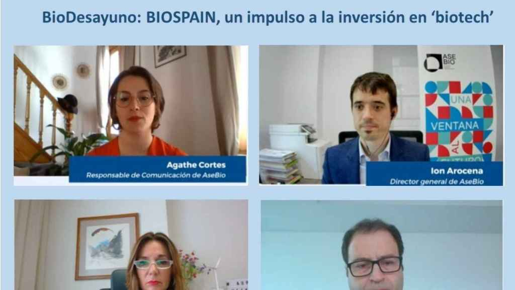 Un momento durante la rueda de prensa online de BioSpain.