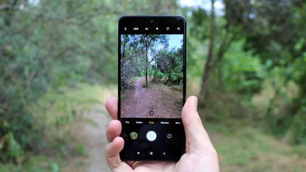 La aplicación de cámara del Xiaomi Mi 11i abierta.