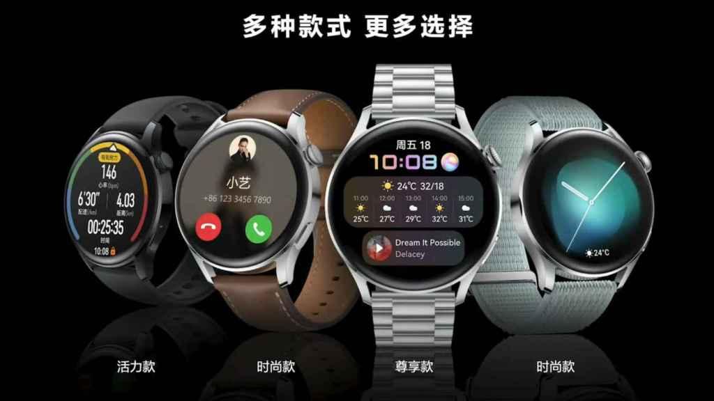 Huawei Watch 3 y 3 Pro.