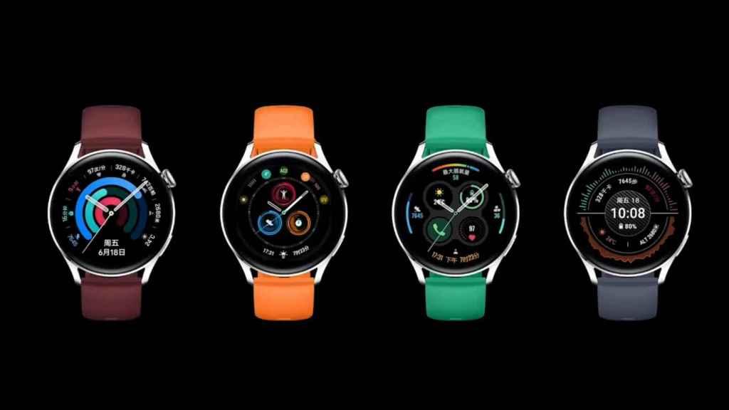 Uno de los modelos del Huawei Watch 3.