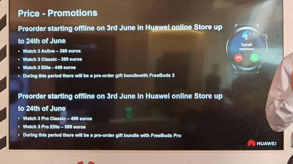 Huawei Watch 3 lanzamiento en España