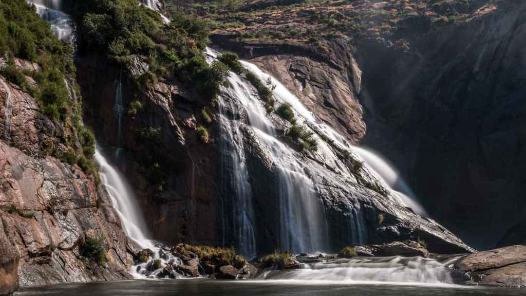 La cascada de Ézaro y su mirador
