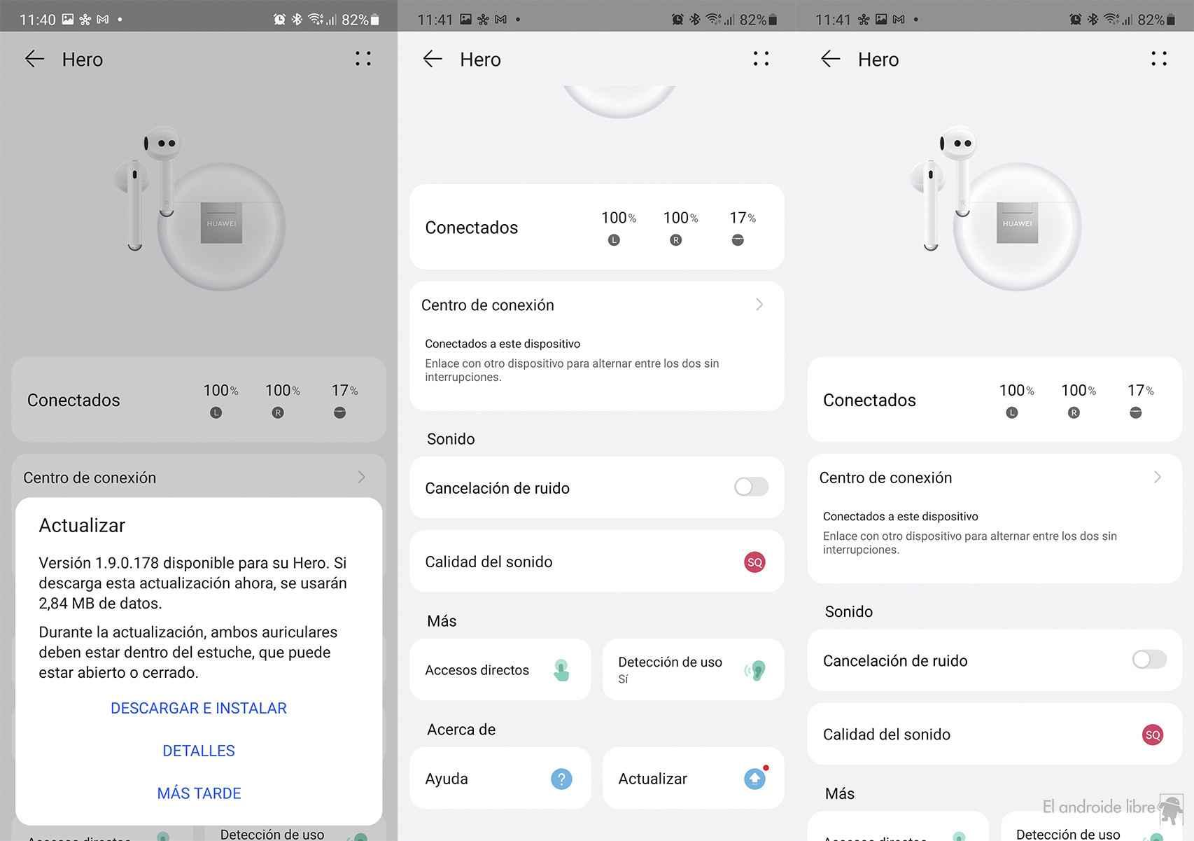 App para configurar los auriculares Huawei FreeBuds 4