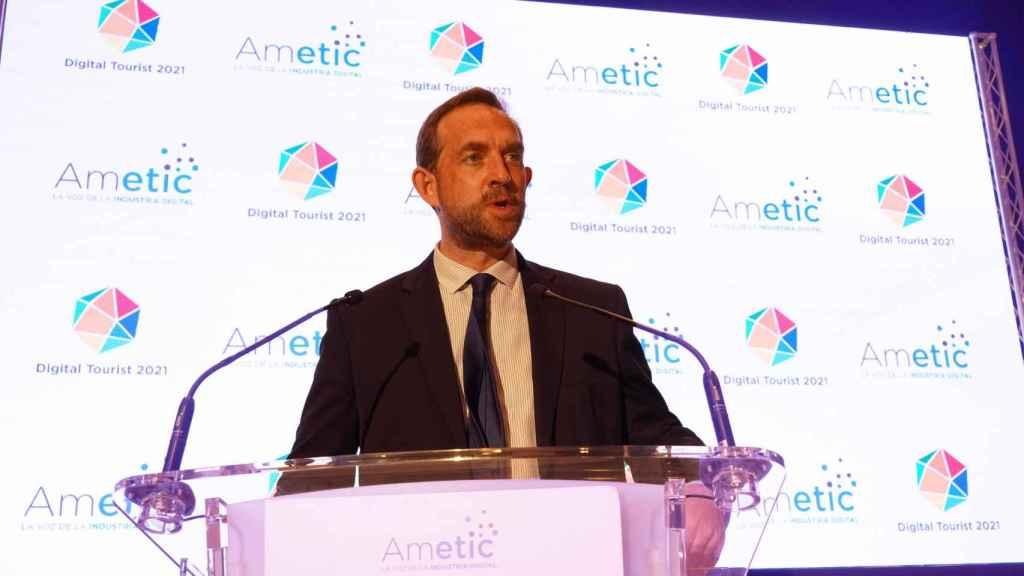 El secretario de Estado de Turismo, Fernando Valdés, en Digital Tourist 2021 organizado por Ametic