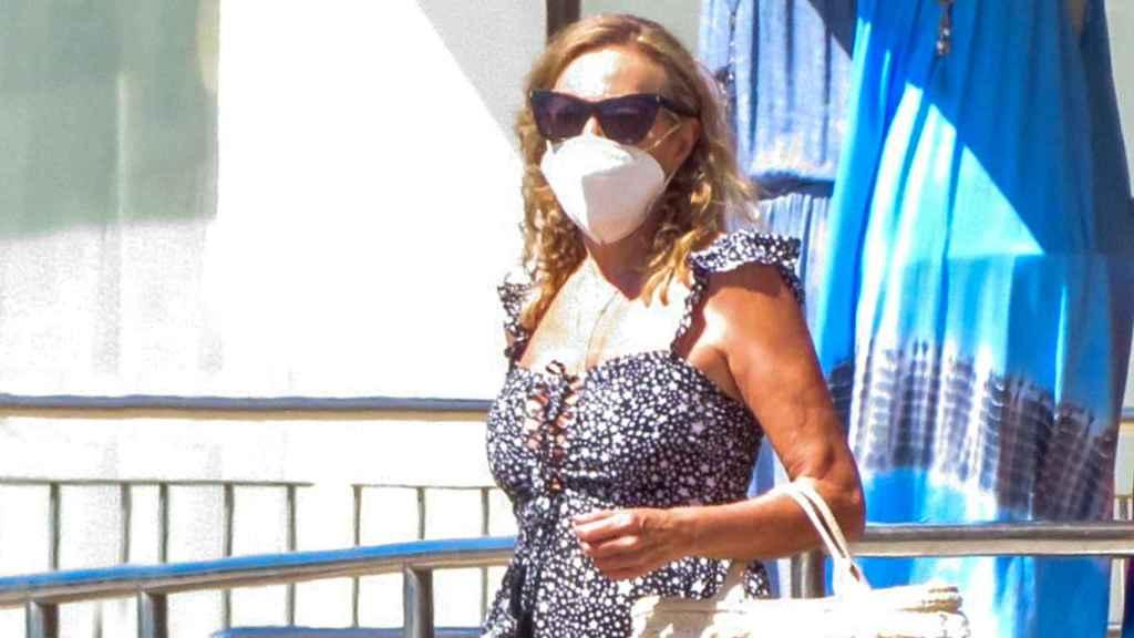 Ana García Obregón durante sus vacaciones de verano en Palma de Mallorca en 2020.