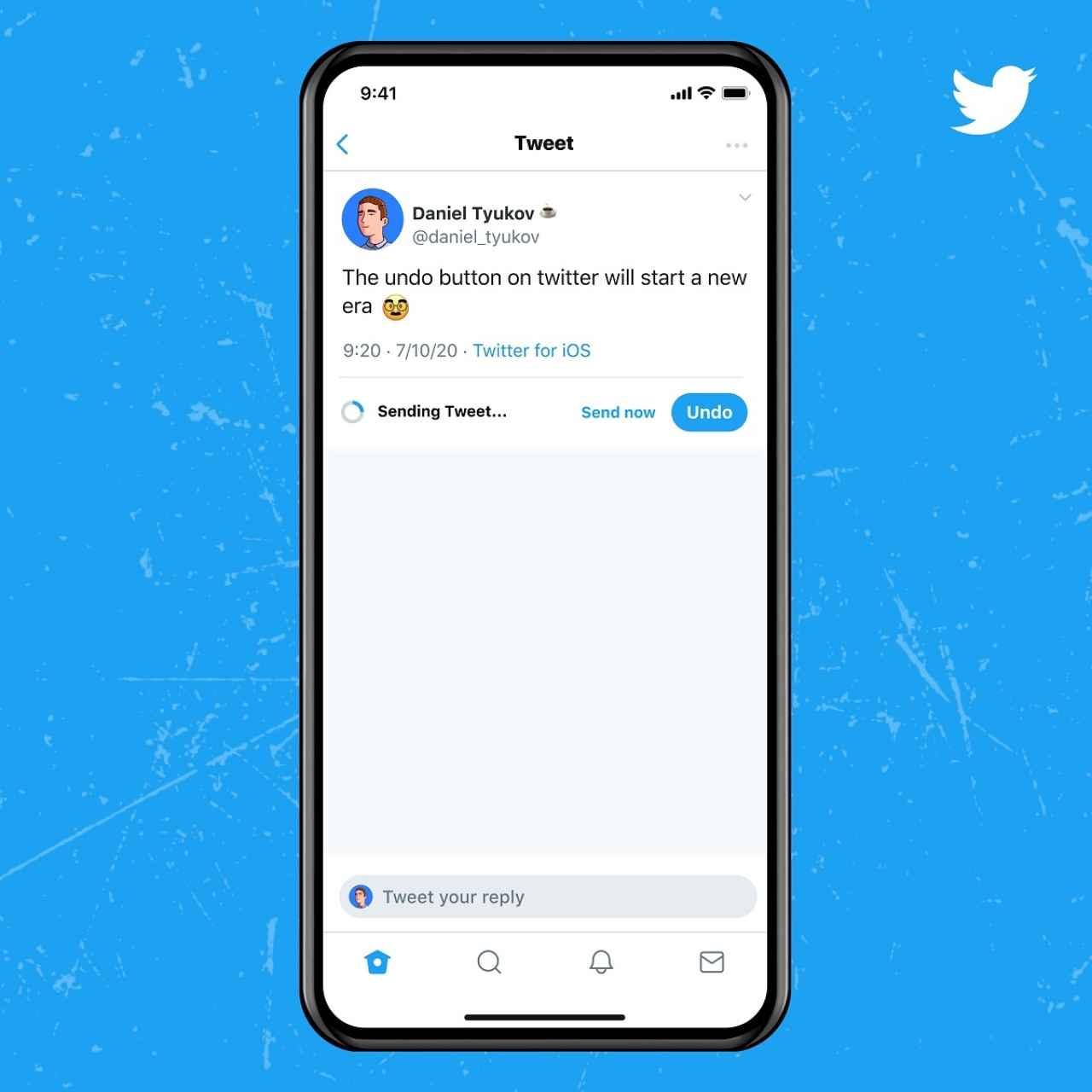 Twitter Blue deshacer