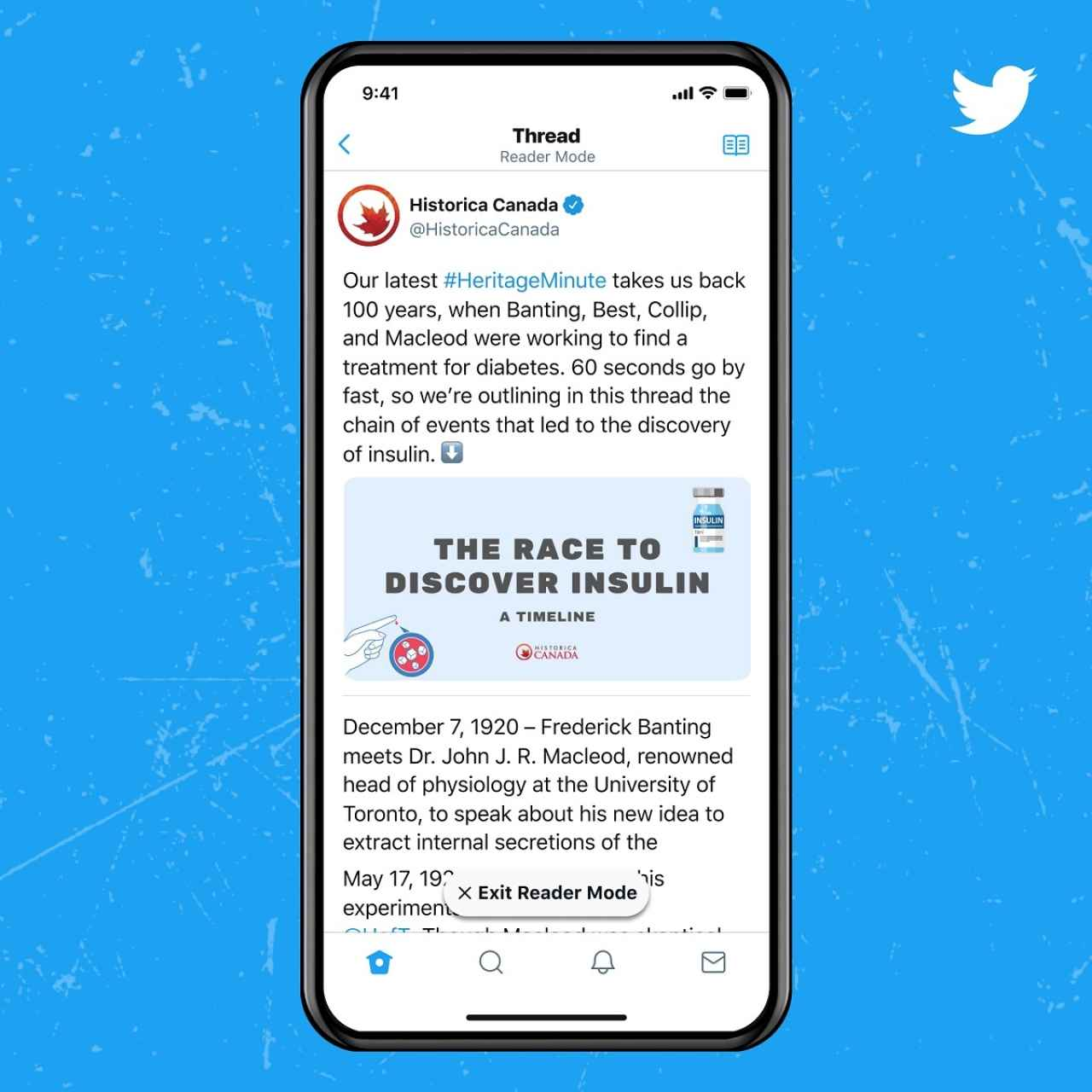 Twitter Blue modo lectura