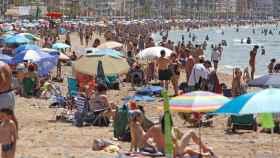 Playa de Benidorm, esta semana.