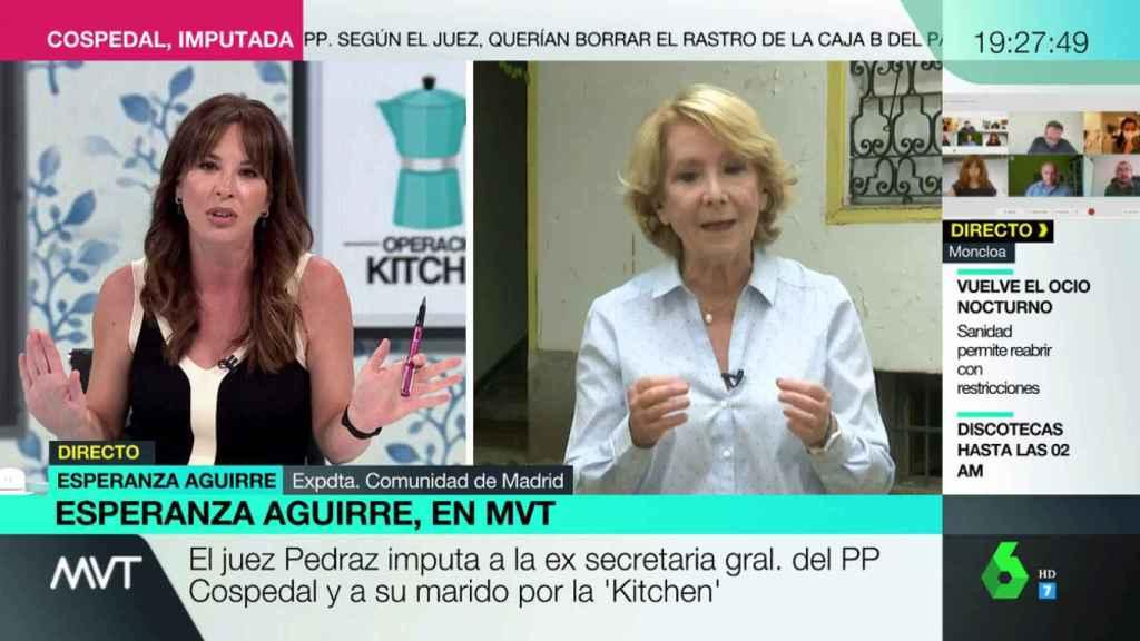 Mamen Mendizábal ha vuelto a protagonizar una tensa entrevista con Esperanza Aguirre.