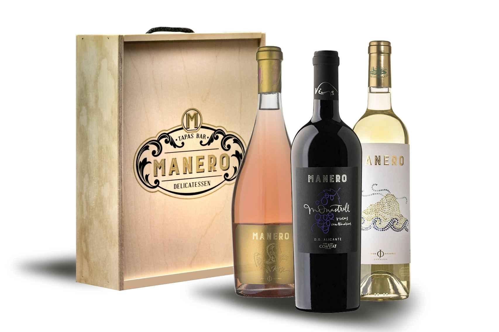 Algunos de los vinos seleccionados de Manero.