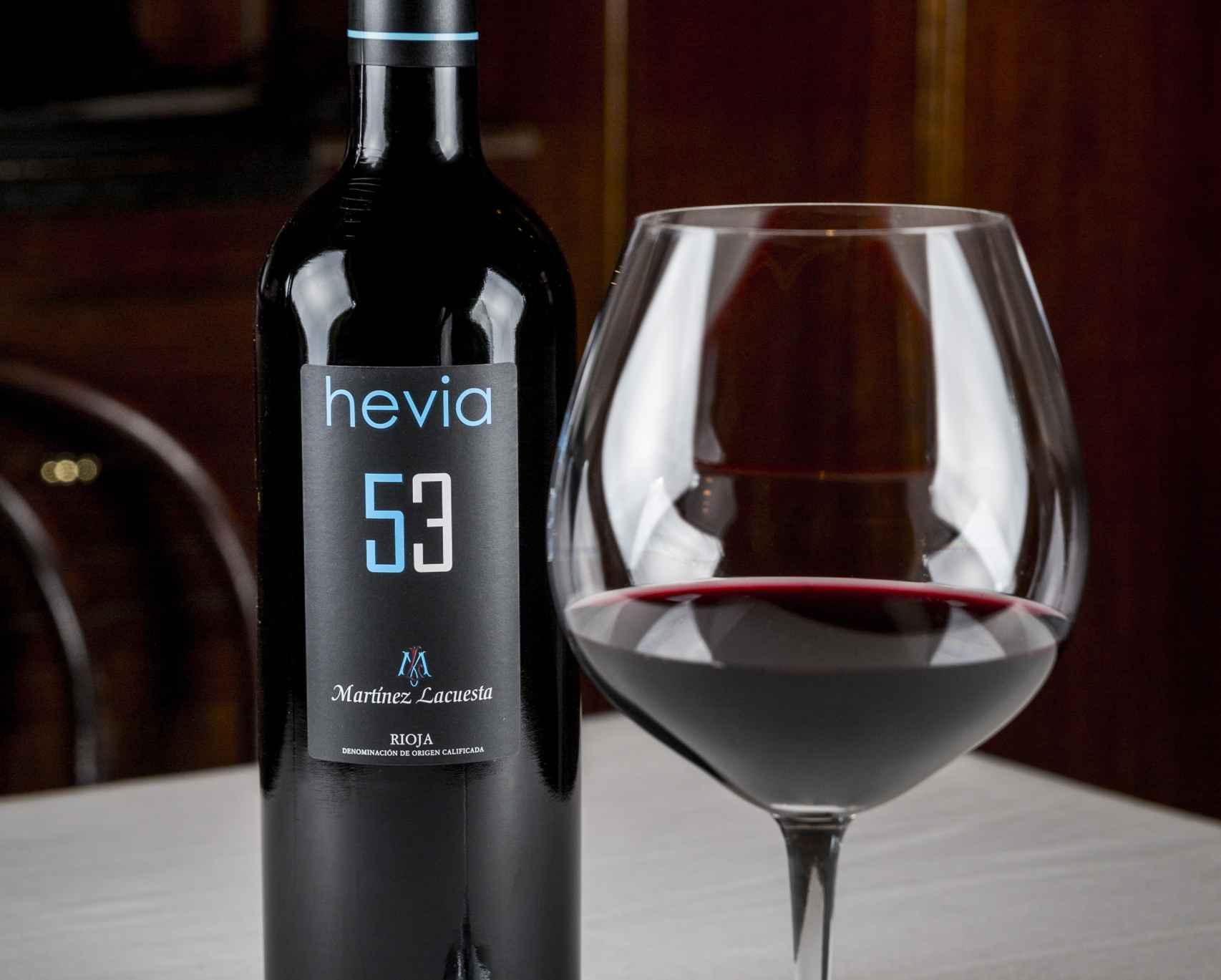 El vino de la casa del restaurante Hevia, elaborado por Martínez Lacuesta.