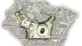 Los terrenos que utilizará el Barcelona para el nuevo Espai Barça