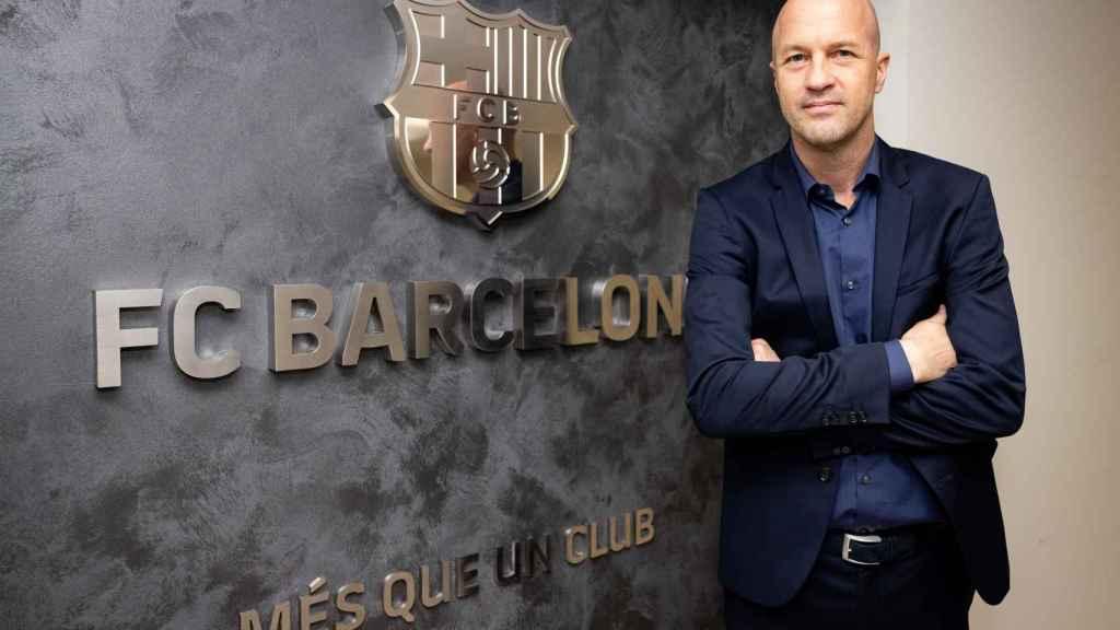 Jordi Cruyff, en las oficinas del FC Barcelona