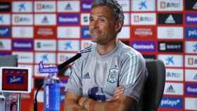 Luis Enrique en rueda de prensa con la Selección