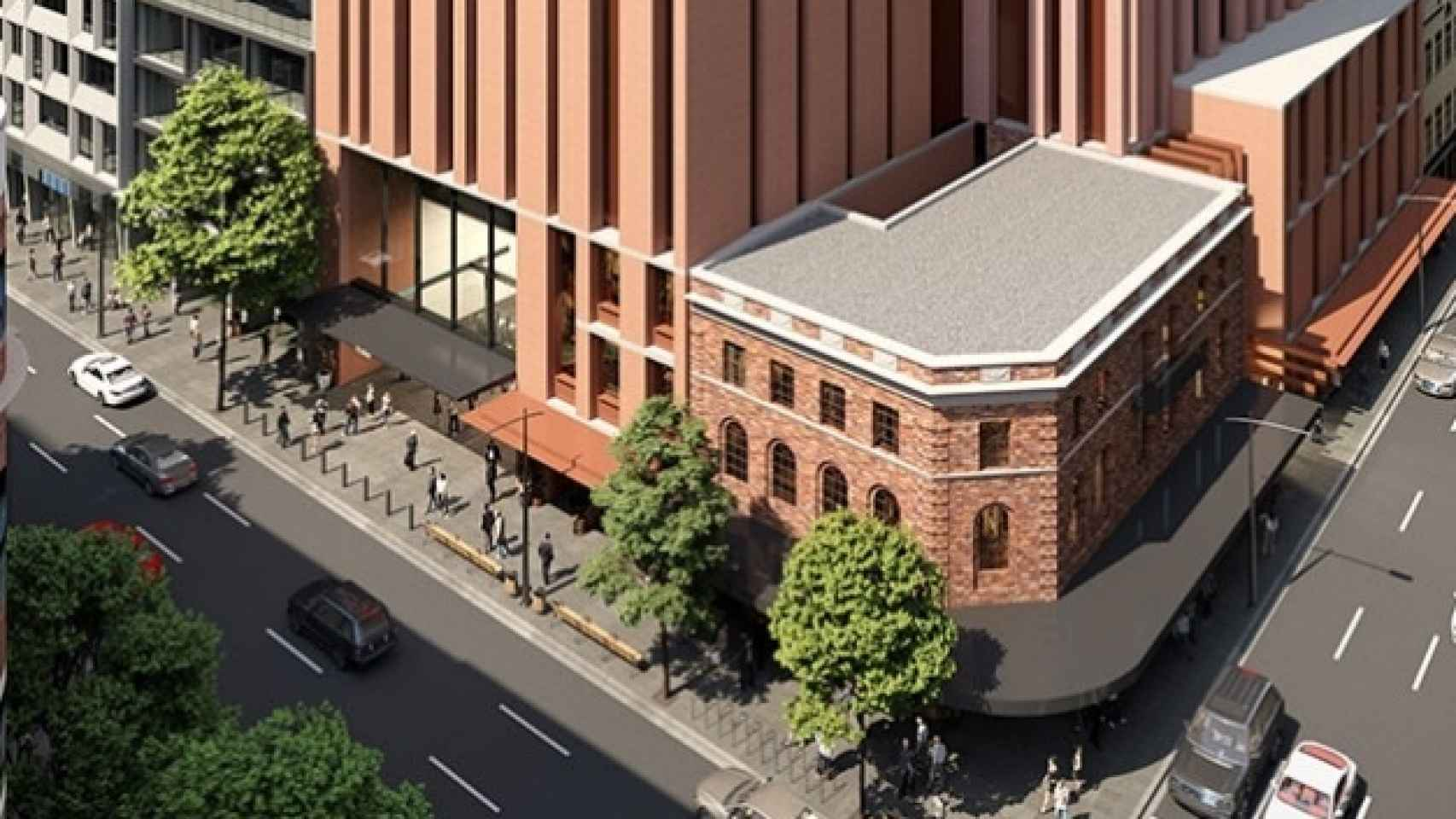 Imagen de la torre residencial que construirá Cimic (ACS) en Sídney.