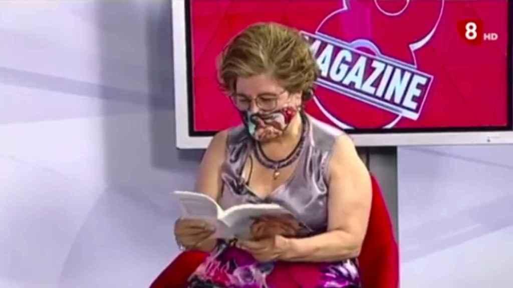 Sonsoles Soto Mories durante la polémica lectura en el programa.