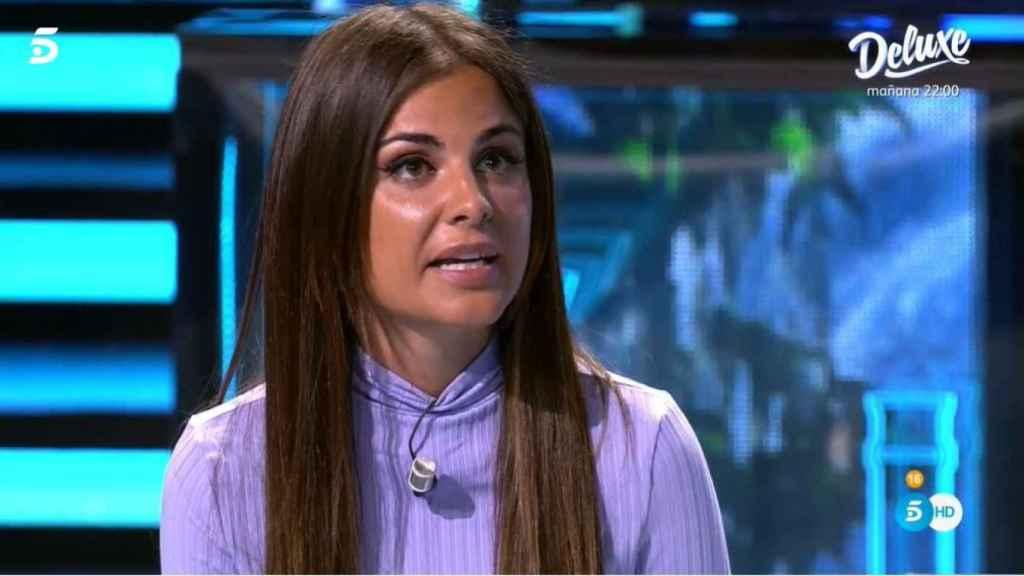 Alexia Rivas en el plató de Telecinco.