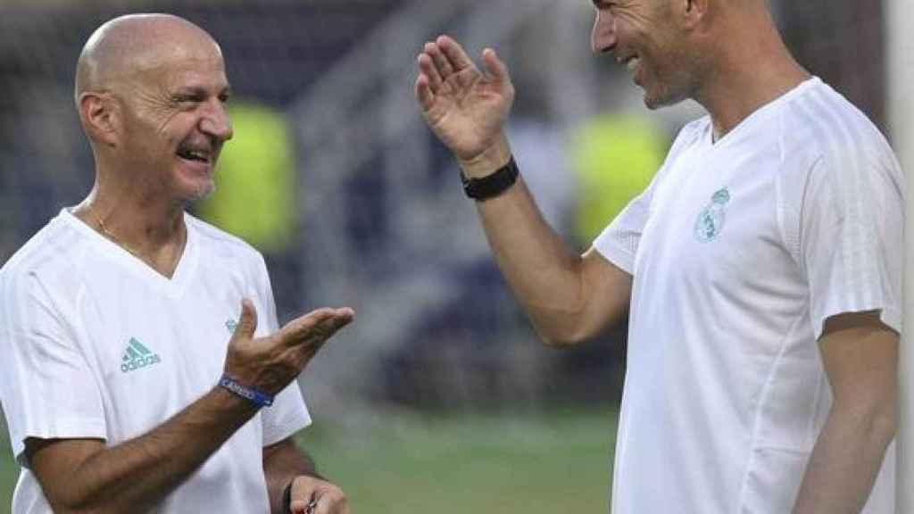 Pintus y Zidane, en 2018
