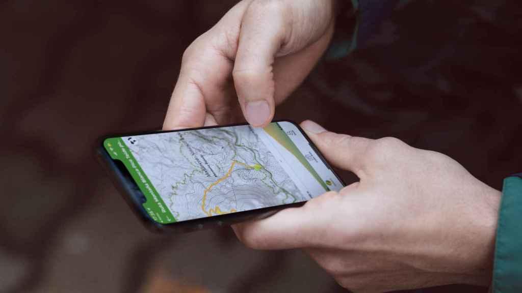 Wikiloc mostrando una ruta