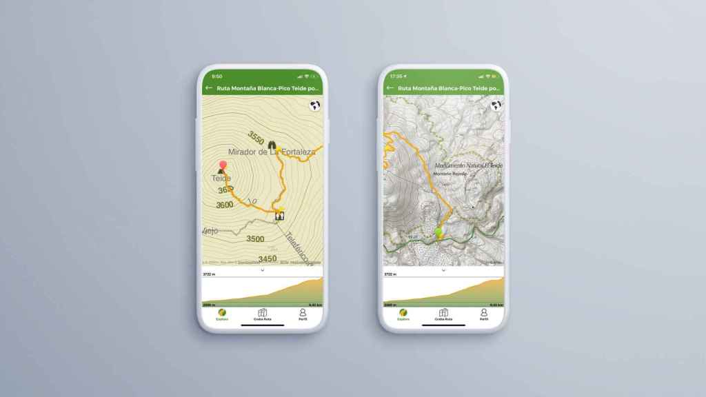 Mapas en la app WIkiloc