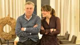 Carlo junto a su hija Katia Ancelotti, en una imagen de sus redes sociales.