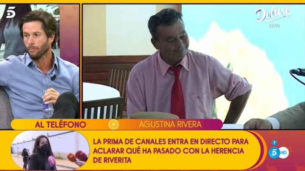 Agustina llamando en directo al programa para hablar con Canales.