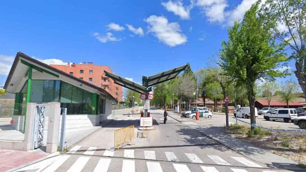 Entrada al Colegio de Guardias Jóvenes Duque de Ahumada, donde está el Escuadrón de la Guardia Civil en Valdemoro.
