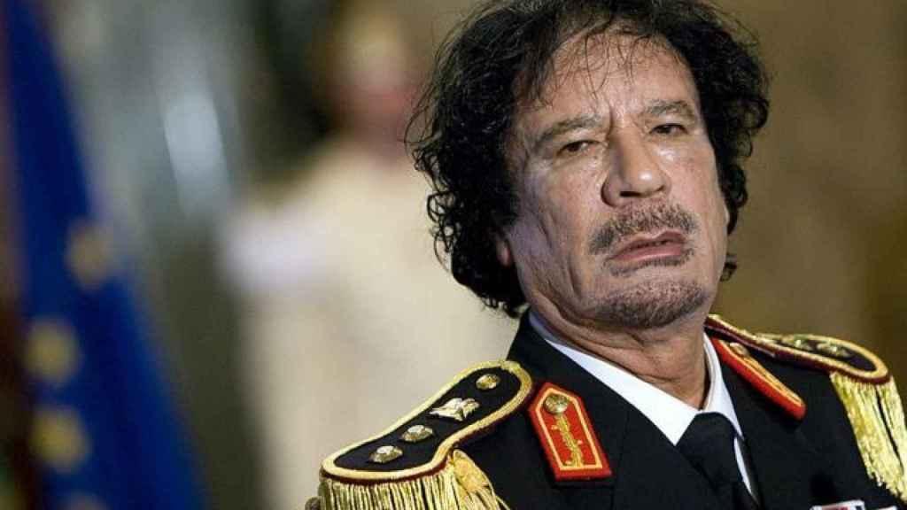 El fallecido líder libio Muamar el Gadafi, con su uniforme de coronel.