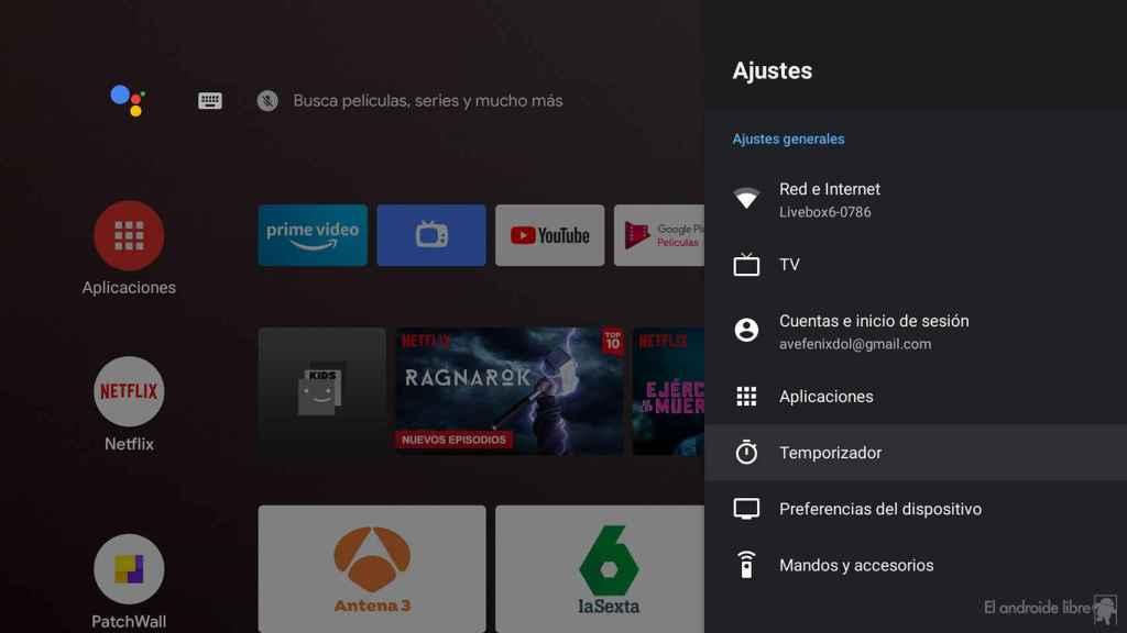 Ajustes de Android TV