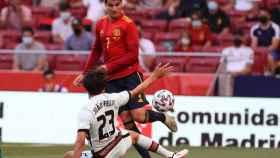 Morata durante el España - Portugal