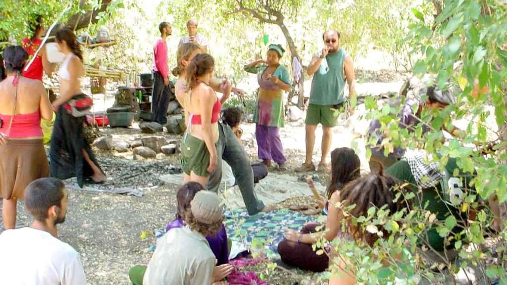 Encuentro de la Familia Arcoíris en El Toyo, en 2008.