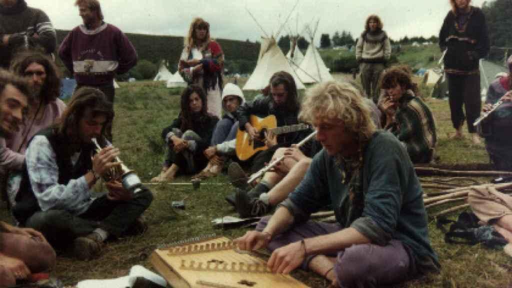 Encuentro de la Familia Arcoíris en Irlanda, en 1993.