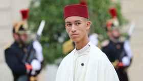 Moulay Hassan, durante un acto en París.