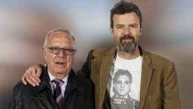 Amado Donés junto a su hijo, Pau Donés, en una imagen de 2016.