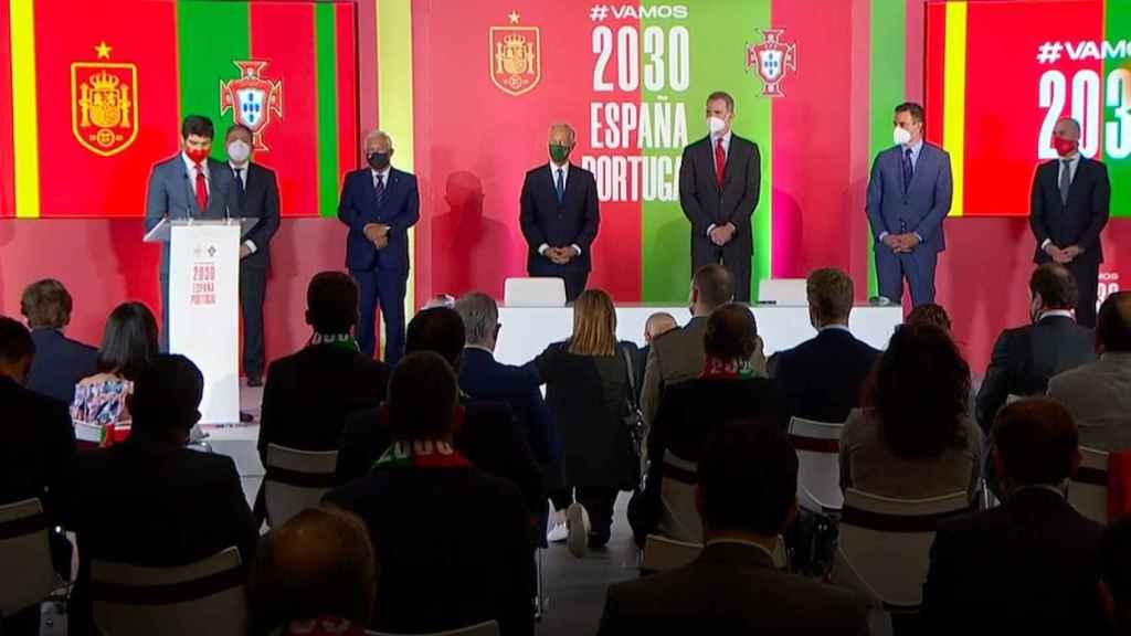 Acto de presentación de la candidatura del Mundial 2030 entre España y Portugal