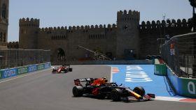 'Checo' Pérez rueda en el circuito de Bakú