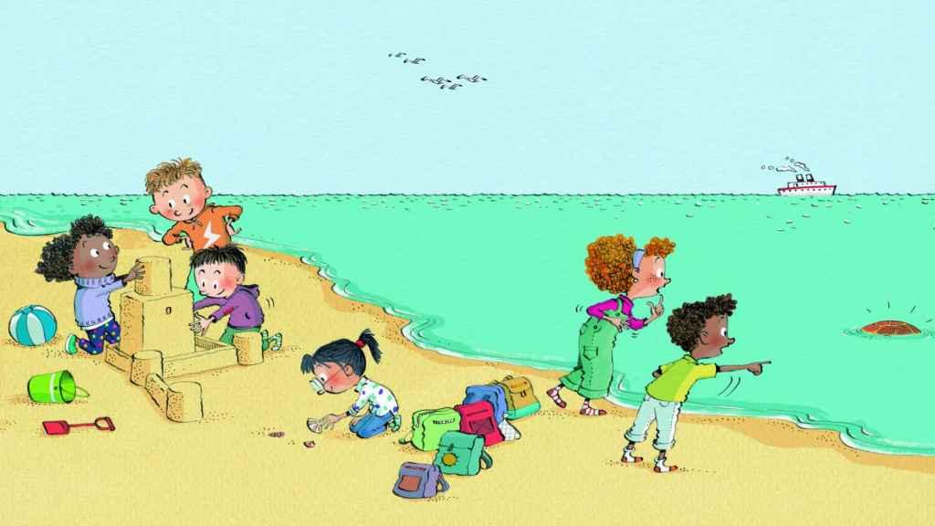 Ilustración de 'Lola y la tortuga', editado por CaixaBank.