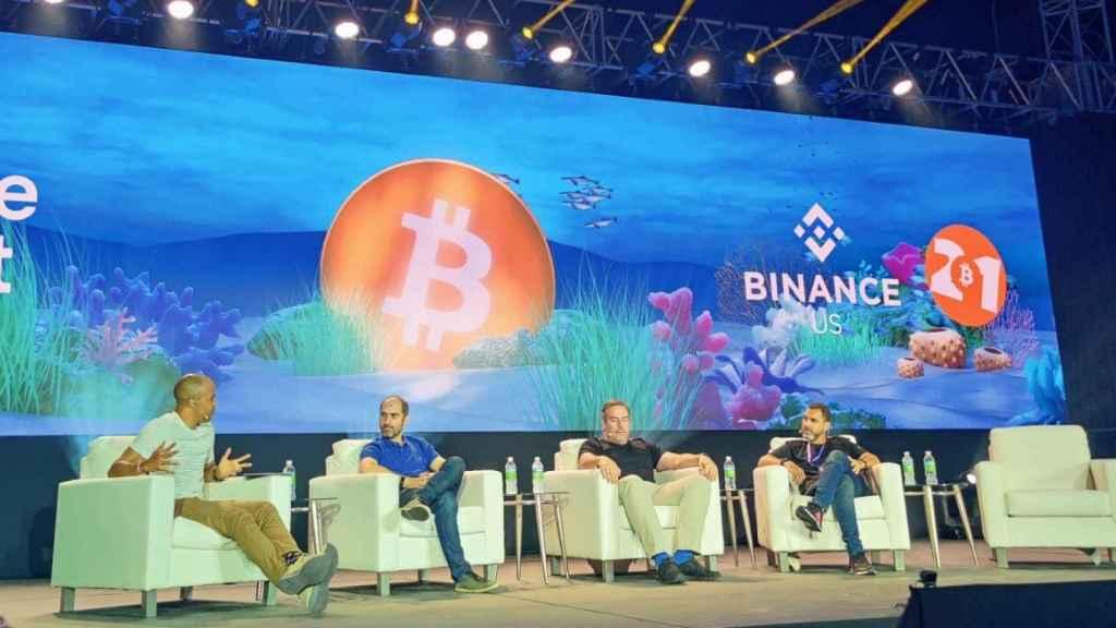 Una de las sesiones de la Bitcoin Conference, celebrada esta semana en Miami. Foto: RJC
