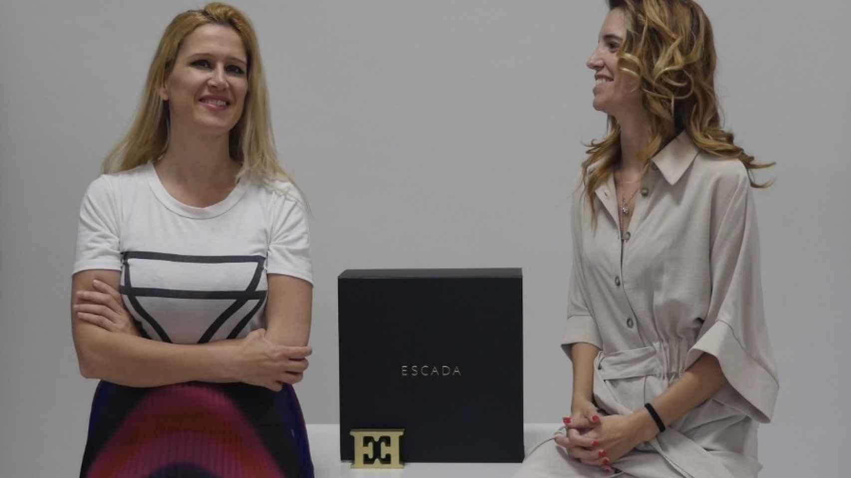 María José González y Sheila Moya son las fundadoras de la startup Pislow que permite alquilar hasta medio centenar de prendas y accesorios de ESCADA.