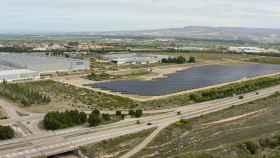 Parque fotovoltaico instalado en la planta zaragozana de Stellantis.