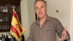 José Manuel Soto felicitando el Corpus a sus seguidores de Twitter.