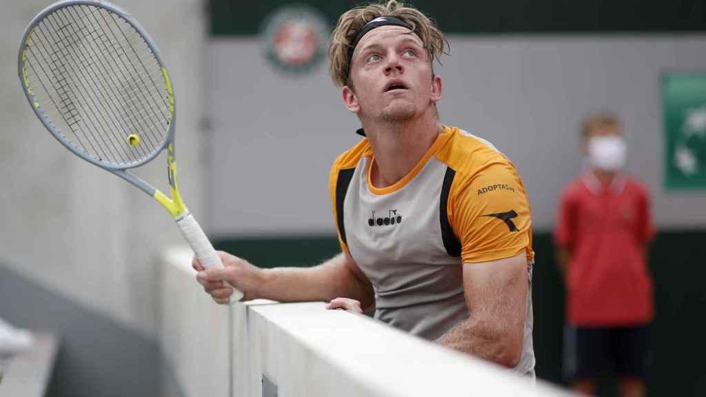 Davidovich, durante el partido ante Ruud en Roland Garros.
