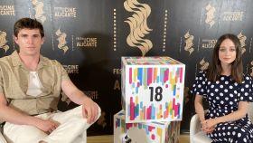 Eric Masip y Elena Rivera presentan 'Alba' en el Festival de Cine de Alicante.