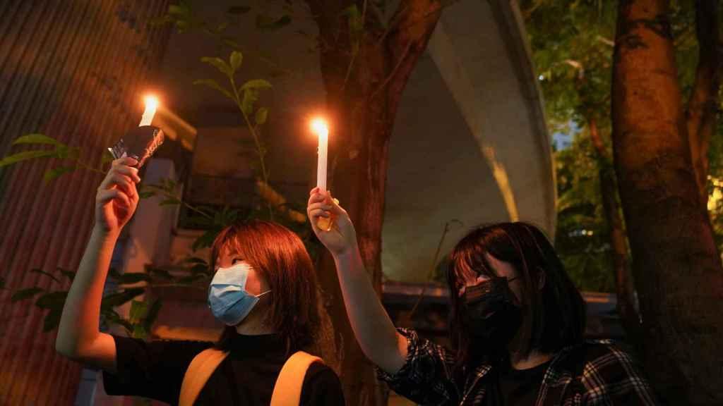 Protestas por el aniversario de Tiananmén.